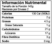 Mexico Standard Nutrition Facts Label