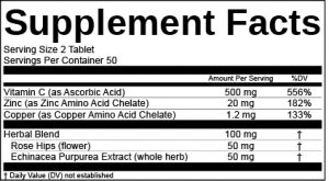 Supplement Facts Label Software Template for Herbal Blend
