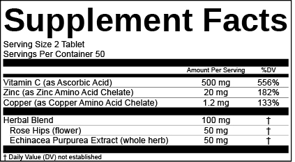 US Supplement Facts Label Herbal Blend