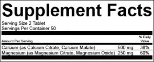 Supplement Facts Label Template with Multiple Nutrient Sources