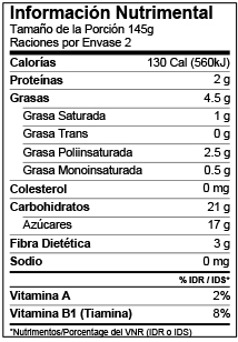 Mexico Nutrition Facts Label Template Voluntary Nutrients