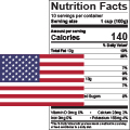 US Nutrition Facts Label