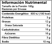 Mexico Nutrition Facts Label