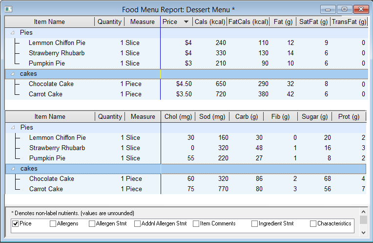 Menu Labeling Software