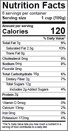 New US 2016 Nutrition Facts Label