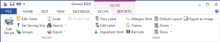 recipe ribbon