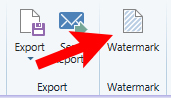 Red arrow points to Watermark function