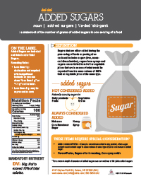FDA Added Sugar Cheat Sheet