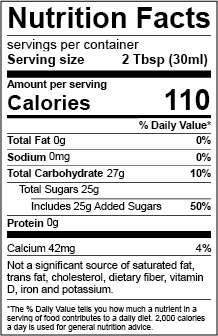 added sugar labeling nutrition facts labels