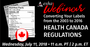 Health Canada New Nutrition Facts Labels Webinar