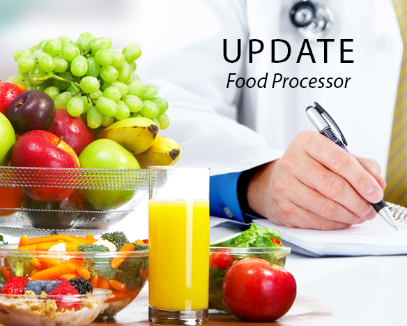 Food Processor Version 11.7 Update